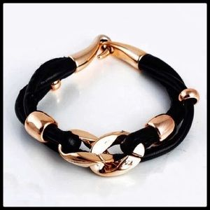 Ladies black and gold color bracelet